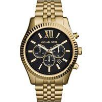 Michael Kors Lexington Gold Black Stainless Steel Chrono MK8286 Men's Watch