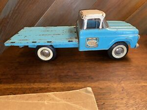 NYLINT TOYS CHASE SANBORN STAKE TRUCK PRESSED STEEL