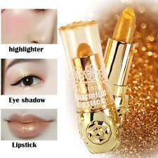 Mermaid Golden Lipstick Shimmer Gold Metallic Balm Long Lasting Eyeshadow Pop