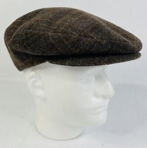 Doria Gruppo Borsalino Italy Vintage 100% Wool Newsboy Flat Cap Size M 7 1/4