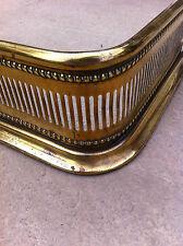 """Antique Original Victorian Brass 39"""" Fireplace Fender Hearth Fire Guard (PK011)"""