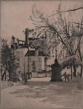 DEMERARA HOUSE BRISTOL Signed Etching GWEN CROSS - GWEN WHICKER c1920