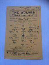 More details for wolves v coventry city 1944-45