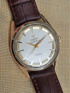 Vintage Universal Geneve Polerouter Jet watch,gold over steel, microtor 215,runs