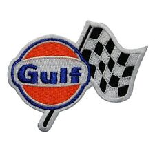 Gulf Racing RICAMATO Panno EMBLEMA badge patch
