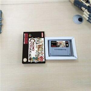 Chrono Trigger - Super Nintendo SNES PAL/EUR Save Feature, Game Card & Box