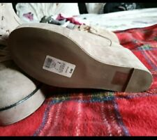 Ladies suede wedge boots River Island UK size 6