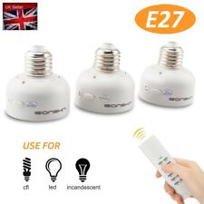 Wireless Remote Control E27 Screw Bulb,Light Socket Lamp Holder with Remote 100