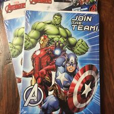 Lot of 2 Avengers Join The Team 8 Party Invitations Envelopes Thank You 16 Total
