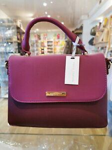 Katie Loxton Talia Two Tone Messenger Handbag Bag Burgundy RRP £59.99