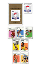 NIC83072 Summer Olympics in Los Angeles 8 stamps and block