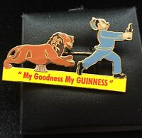 GUINNESS LION AND KEEPER  MILLENNIUM COLLECTABLES  LTD 1200 TOYE & C0 BADGE LTD