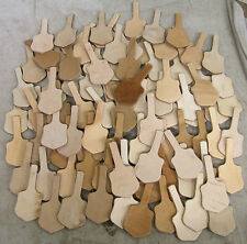 50 NATURAL VEG TAN LEATHER BLANK SHIELD KEY FOBS
