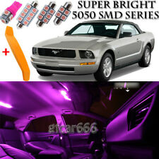 7 x Ultra PINK Interior LED Lights Kit + TOOL For 2005 - 2009 Ford Mustang