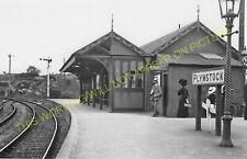 Plymstock Railway Station Photo. Plymouth - Oreston. Turnchapel Line. L&SWR (6)
