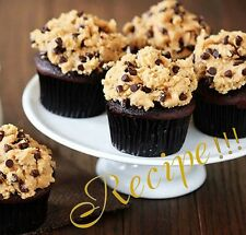 "☆Chocolate Cupcakes☆W/Peanut Butter Cookie Dough Frosting ""RECIPE""☆From Scratch☆"