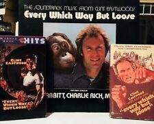 EVERY WHICH WAY BUT LOOSE 1978 VHS/Paperback/Soundtrack Vinyl Clint Eastwood