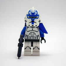 Lego Star Wars Custom Clone Trooper 501st Jesse + Backpack / DC15S Blaster