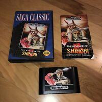 Nice Condition REVENGE OF SHINOBI Sega Genesis Game AUTHENTIC COMPLETE Super Fun
