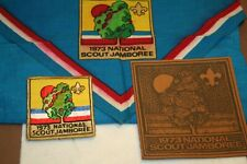 BSA  1973 NATIONAL SCOUT JAMBOREE Neckerchief, Patch & Leather Patch