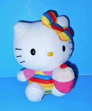 Adorable Cuddly CuteCup Cake Hello Kitty Cat Plush Sanrio TY NWTs Beaniie  2014