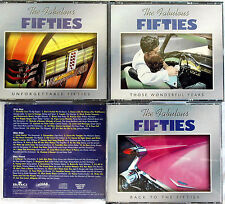 THE FABULOUS FIFTIES 9 CD LOT THOSE WONDERFUL YEARS +BACK TO + UNFORGETTABLE 50S