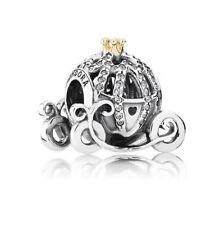 925 Sterling Silver Pandora Disney Cinderella Pumpkin Carriage Charm 791573CZ
