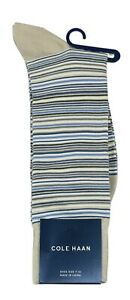 Cole Haan Multicolor Stripe Men's Crew Socks One Size Fits Most NWT
