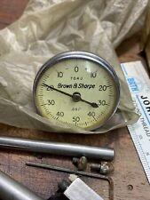 Brown Sharpe Dial Indicators 7040 Original Box Sending With All Parts Nnn8