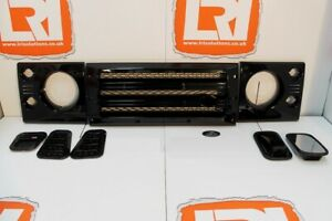 GLOSS BLACK UPGRADE KIT grille vents mirrors Fits Land Rover Defender 90 110
