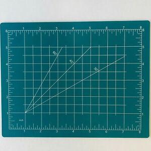 "Cutting Mat Board Craft Hobby Art Supplies Double Sided 9"" x 7-1/2"""