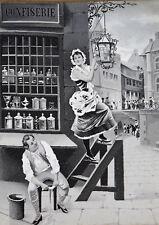 Vieux Image Um 1900 Confiserie, Pâtisserie Broderie Jacquard
