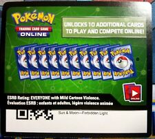 2x Sun and Moon Forbidden Light TCGO Online Code Pokemon Cards - Fast