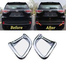 For Toyota Kluger Highlander 2014-17 Chrome AB Rear Fog Light Lamp Cover Trim