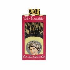 Betty Dain Socialite Collection Terry Lined Shower Cap Leopard Print