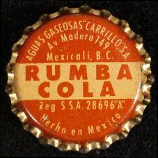 RUMBA COLA CORK SODA BOTTLE CAP CROWN CARRILLO MEXICALI, BAJA CALIFORNIA, MEXICO