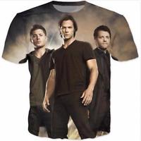 New Fashion Womens/Mens Supernatural Sam Winchester Funny 3D Print T-Shirt USJ09