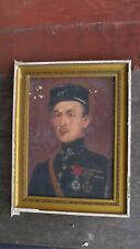 Portrait de militaire signé MAURICE 1918 huile sur toile expertisée