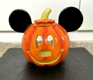 Disney Mickey Mouse Pumpkin Jack O Lantern Tealight Candle Holder Ornament