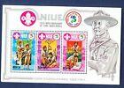 NIUE   SC 375    FVF MNH S/S   BOY SCOUTS   1982    CORNER CREASE