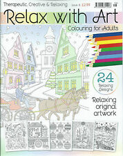 Relax With Art Colouring Book for Adults Issue 9 FREEPOST UK