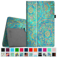 For Amazon Fire HD 10 7th Generation 2017 Tablet Folio Case Cover Stand Leather