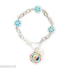 Disney Princess Frozen Elsa Glitter Snowflakes Charm Bracelet Hearts NWT
