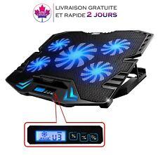 Refroidisseur Ordinateur portable Gaming,cinq Ventilateurs 12-15.6 pouces