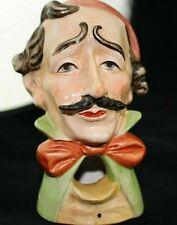 Antique Smoking Head Artist Character Tobacciana Novelty Figurine Ashtray Bust