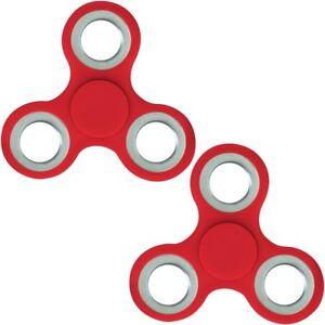 2x Finger Hand Spinner Handspinner Fingerspinner Anti Stress Handkreisel in Rot