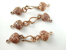 Solid Copper 43x9mm Decorative Heart Hook Clasp Findings Q4 66263