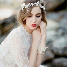 Braut Haarschmuck Hochzeit Kopfschmuck Diadem Haargesteck Perlen Ecru crem G11 A