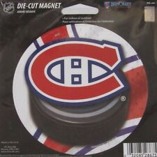NHL 4 inch Auto Magnet Montreal Candiens Logo on Round Puck Style
