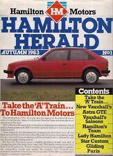 Vauxhall Opel Hamilton Herald automne 1983 UK Market brochure Astra Manta Carlton